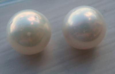 7.5mm Pair Natural USA Freshwater Pearls