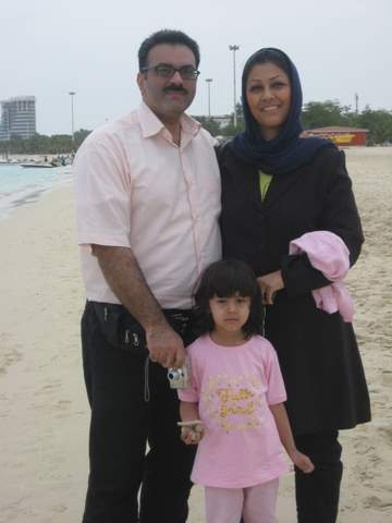 Family on Kish Island