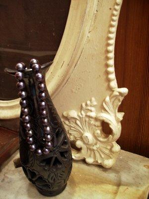 Fancy Frame Black Pearls Oaxaca Pottery