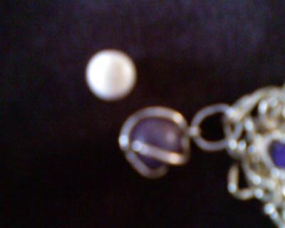 Two pretty quahog pearls