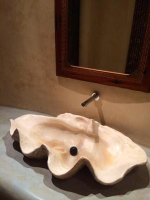 FOSSIL CLAMSHELL LUXURY WASHBASIN
