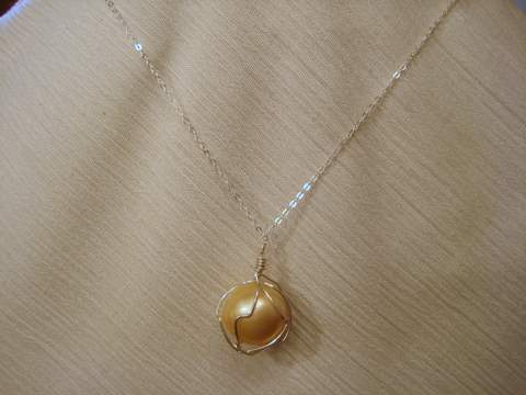 Golden South Sea pearl Necklace for sale