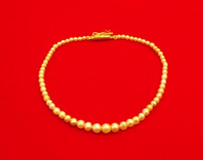 Graduated Natural Pearl Bracelet