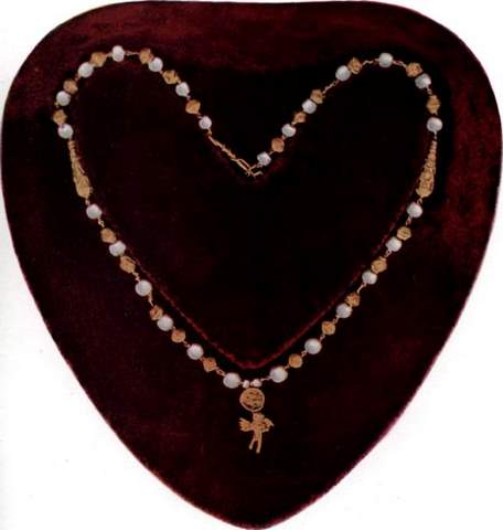 Grecian Pearl and Gold Necklace