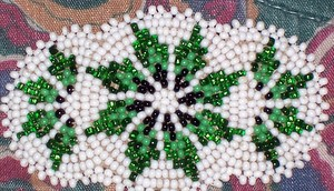 Green White Black Beading