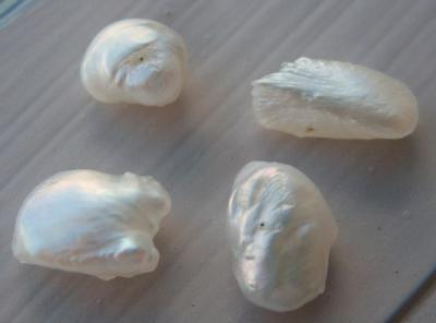 Group of 4 Natural USA Freshwater Pearls