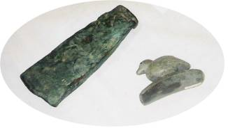 Indian Artifacts bird ax