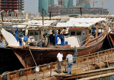Pearly boat in Manama