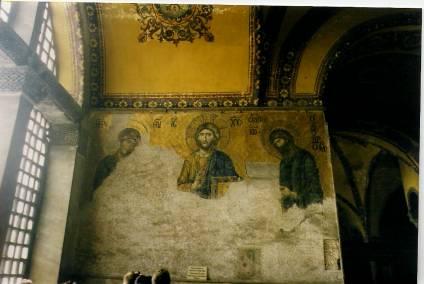 Jesus Mosaic Hagia Sophia
