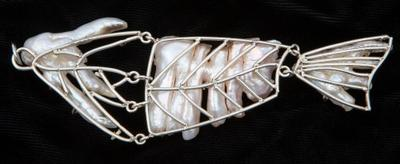 Kinetic Fish Pearl Jewel by Lyn Punkari
