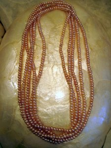 Lavender Seed Pearl Necklace