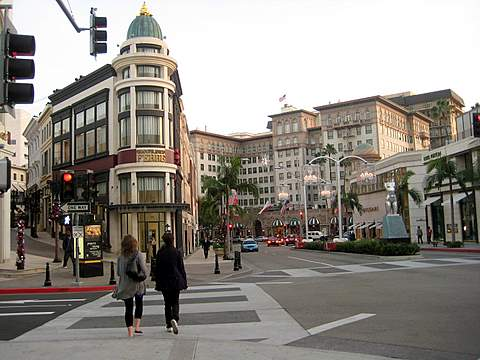 Looking toward Mikimoto on Rodeo Drive Los Angeles