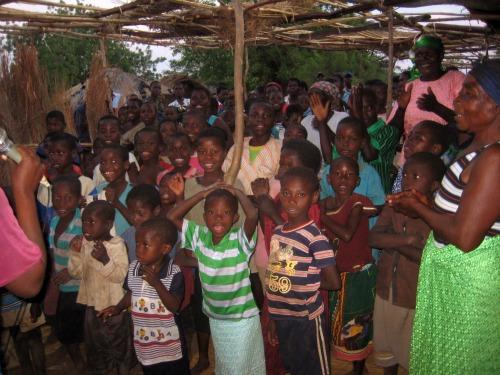 Malawi children in church