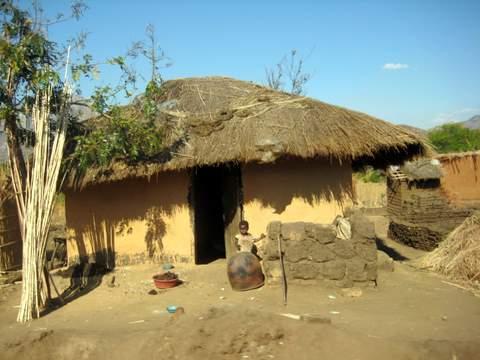 Hut in Malawi Village