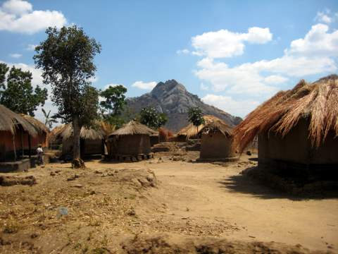 Malawi Village with Mountains