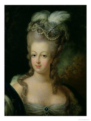 Marie Antoinette Wearing Pearls