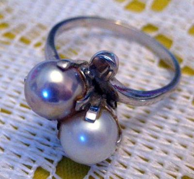 Ring with natural Minnesota River Pearls