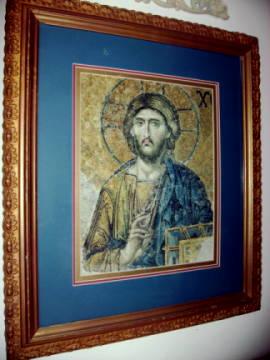 Mosaic of Jesus Framed