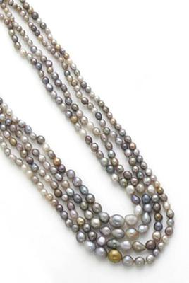 Multi-Colored Natural Pearl Necklace