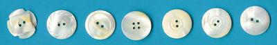 White MOP Buttons Made in Muscatine