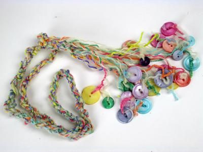 Muscatine Pearl Button Necklace - Colorful