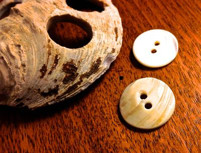 White River (IN) and vintage shell buttons