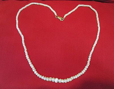 Natural Arabian Gulf Pearl Necklace Strand 49 carats