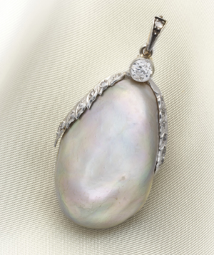 Natural Baroque Pearl Weighing 60 carats Collection of Valda Virginia Vaughn Scott  PHOTO: © Christie's Images Limited 2011