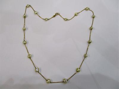 Natural Baroque Pearls Strung to an 18k Gold Chain Necklace