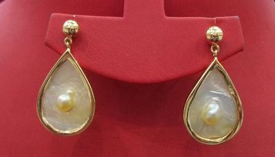 Natural Basra Blister Pearls Earrings