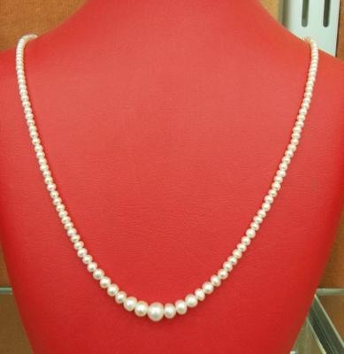 Natural Basra Pearl Necklace   &  32.04 Carats