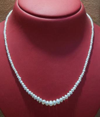 Natural Basra Pearl Necklace Strand