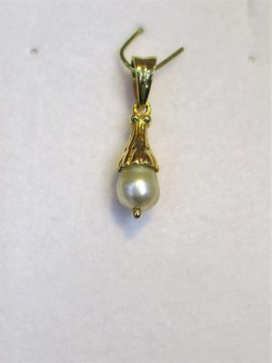 Natural Basra Pearl Pendant 1+ carat 7mm