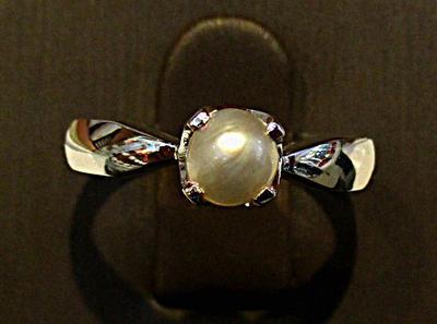 Natural Basra Pearl Ring in 18K Gold