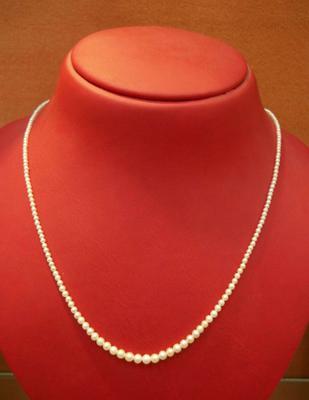 Natural Basra Pearl Single Strand Necklace