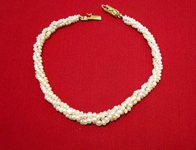 Natural Basra Pearl Twist Bracelet - Persian Gulf Pearls