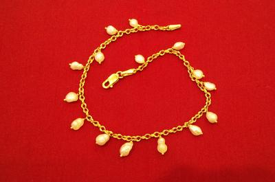 Natural Basra Pearls Bracelet - 18 ct Gold