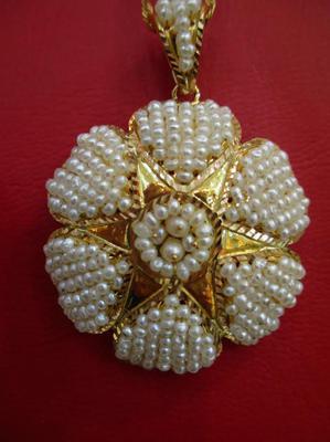 Natural Basra Seed Pearls Full Set Pendant Ring Earrings