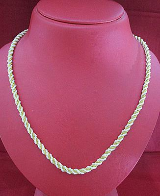 Natural Basra Seed Pearls Necklace with 21k Gold