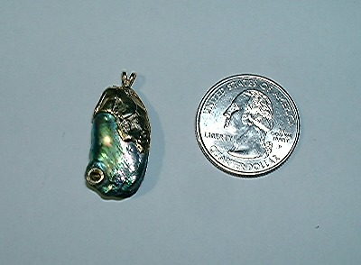 Natural California Abalone Pearl Pendant