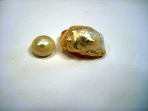 Natural Freshwater Pearls Golden Color
