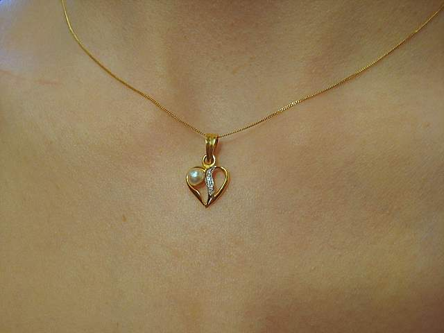 Natural Pearl Heart Pendant