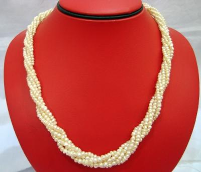 Natural Persian Gulf Pearl 5 Strand Necklace with Certificate