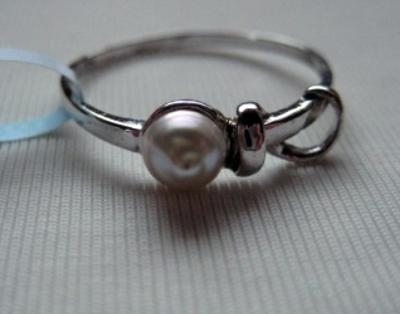 Natural Persian Gulf  Pearl Ring with Certificate
