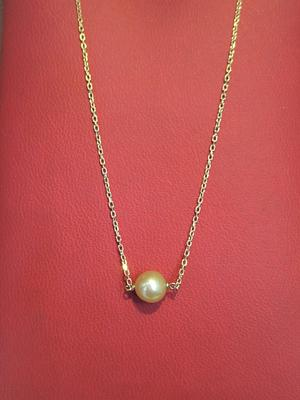 Natural Pearl from Arabian/Persian Gulf on 18k Gold Chain