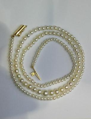 Natural Pearl Necklace at 33.55 Carat