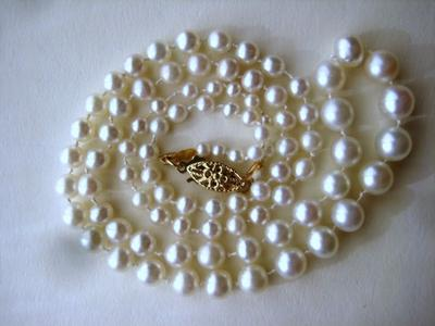 Natural Pearl Necklace GIA Certified