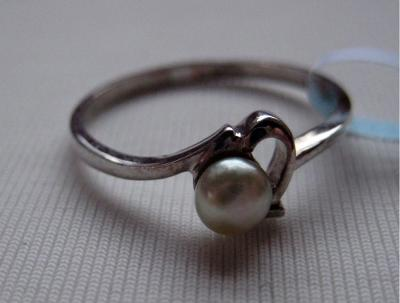 Ring with Natural Persian Gulf Pearl