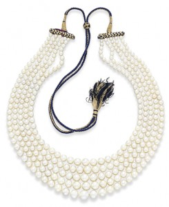 5 Strand Natural Pearl Necklace <BR>Photo credit: CHRISTIE'S IMAGES LTD. 2012