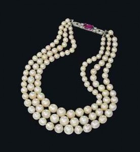 $1.6 million natural pearl necklace